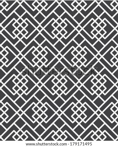 vector abstract black and white seamless geometric pattern, background - stock vector