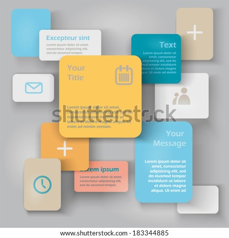 Vector abstract blocks /  template with place for your content  - stock vector