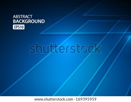 Vector Abstract Blue Background - stock vector
