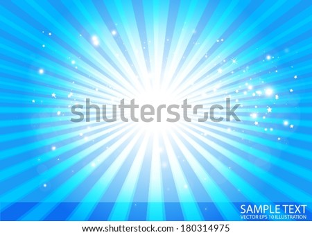 Vector abstract blue  background burst illustration - Background blue circular illustration vector - stock vector