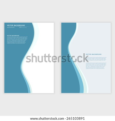Vector Abstract blue background. Wavy illustration. Design and waves - stock vector