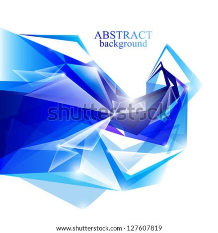 vector abstract blue backgrounds - stock vector