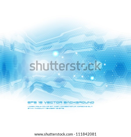 Vector abstract blue futuristic background - eps10 - stock vector