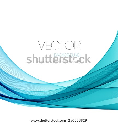 Vector Abstract blue lines background. Template brochure design - stock vector