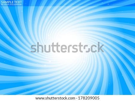 Vector abstract blue star burst background illustration - Vector abstract blue  vortex template illustration - stock vector