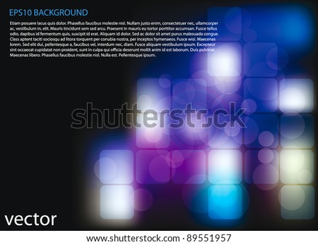 vector abstract blue technology background for your design