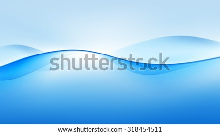 Vector Abstract Blue Wave Background - stock vector