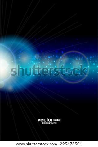 Vector abstract bokeh background. - stock vector