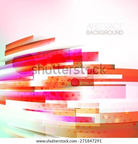 Vector abstract bottom oriented red colors lines illustration, single linear design object. Motion wave. Eco friendly, sunny, summer season background