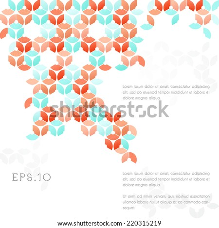 Vector abstract cell structure background - EPS 10 - stock vector