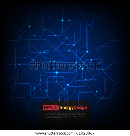 Vector abstract chip background - stock vector