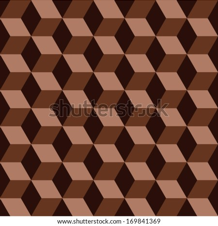 vector abstract chocolate mosaic seamless pattern  - stock vector