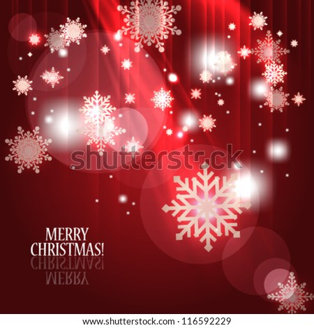 Vector abstract Christmas background - eps10 - stock vector