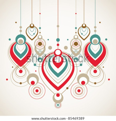 vector abstract christmas decorations - stock vector
