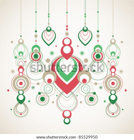 vector abstract christmas decorations