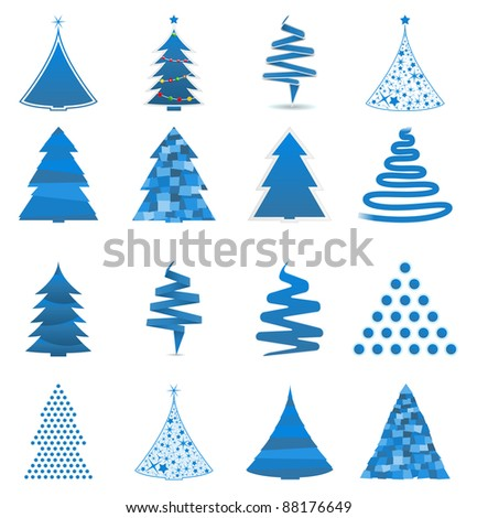 Vector abstract Christmas trees - stock vector
