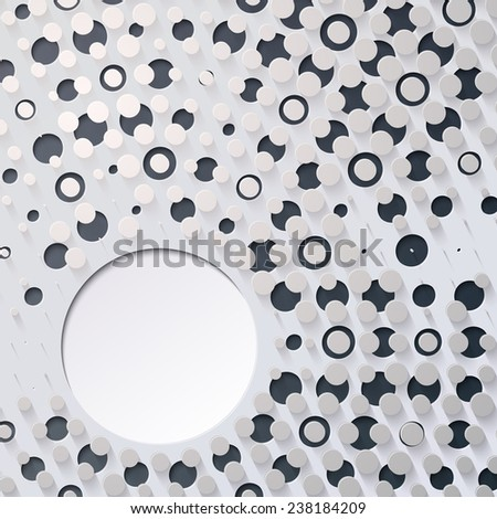Vector Abstract Circle Background with space for text - stock vector