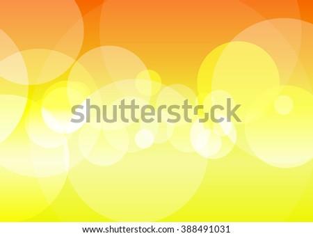 Vector : Abstract circle bokeh on yellow background - stock vector