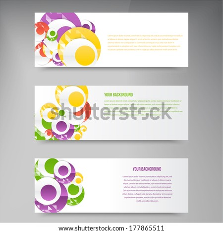 Vector abstract circles template. Object web design