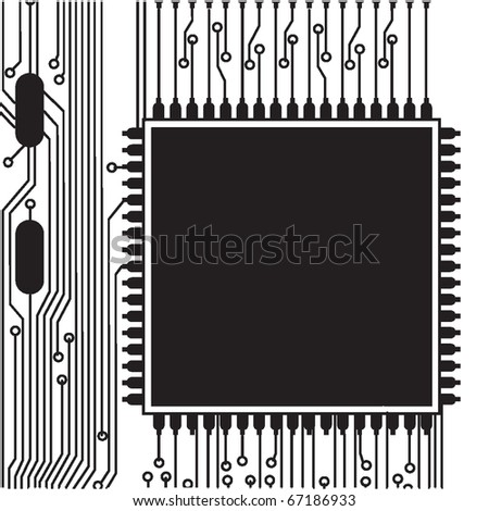 vector abstract circuit board - stock vector