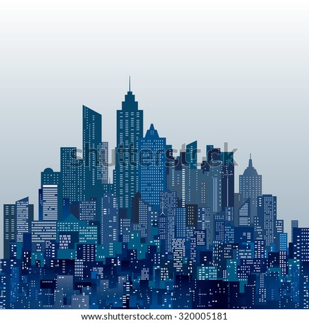 vector abstract city skylines - stock vector