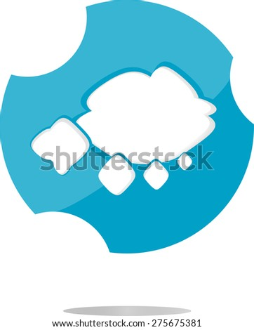 vector abstract cloud web icon, button isolated on white, vector flat icon - stock vector