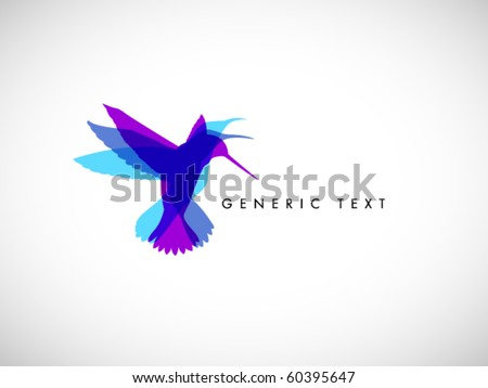 Vector Abstract Colibri Illustration - stock vector