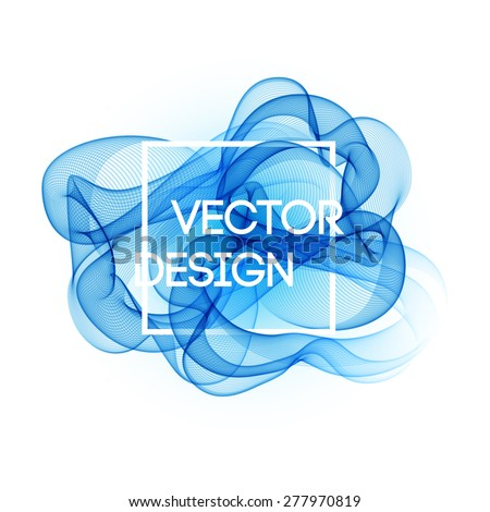 Vector Abstract color curved lines background. Template brochure design - stock vector