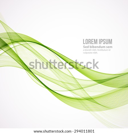 Vector Abstract color curved lines background. Template brochure design. Smoke lines. - stock vector