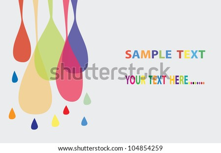 Vector -Abstract color drop background. - stock vector