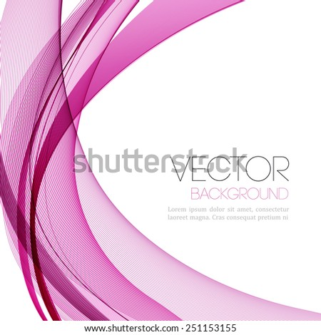 Vector Abstract color lines background. Template leaflet design - stock vector
