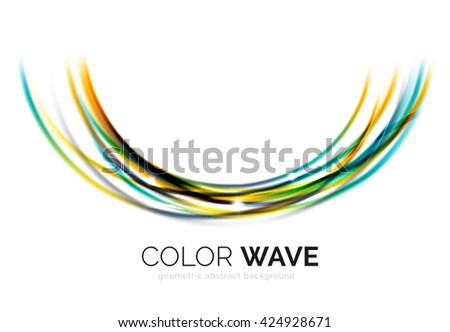 Vector abstract color wave design element - stock vector