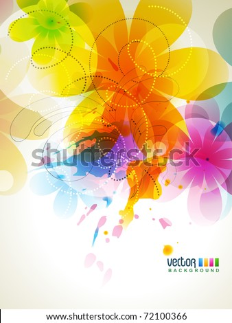 vector abstract colorful background illustration - stock vector