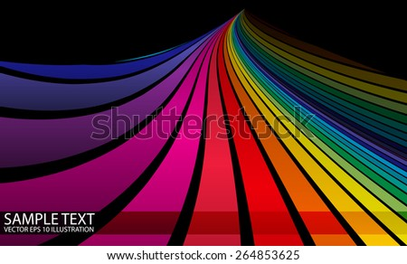 Vector abstract colorful background illustration template - Vector colorful  background striped illustration - stock vector