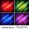vector abstract colorful backgrounds collection - stock vector