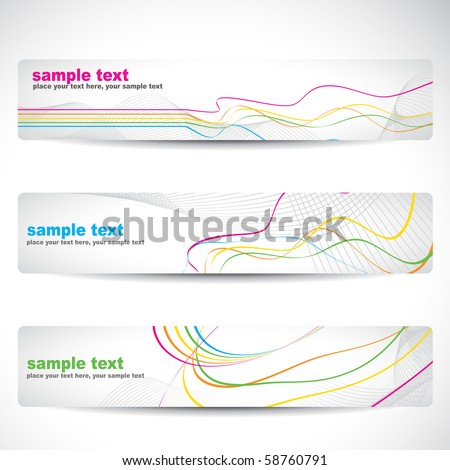 vector abstract colorful banner design - stock vector