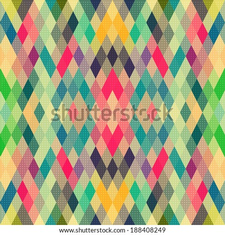 Vector Abstract Colorful Geometric Pattern - stock vector