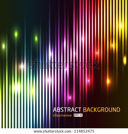 Vector abstract colorful lights background. - stock vector