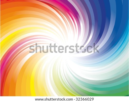 VECTOR Abstract Colorful Rainbow Explosion of ray lights - stock vector
