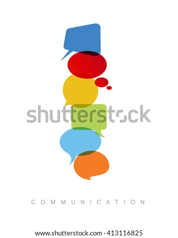 Vector abstract Communication concept illustration - vertical communication version - stock vector