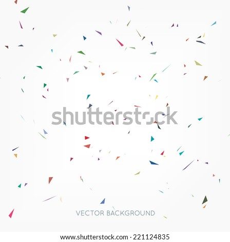 Vector abstract confetti background - stock vector