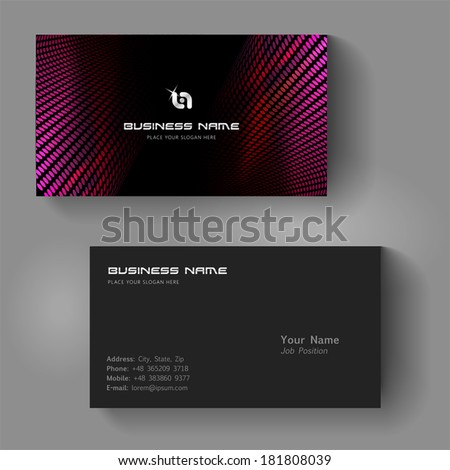 Vector abstract creative business card - stock vector