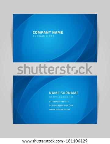 Vector abstract creative business card design template. Technology background.  - stock vector