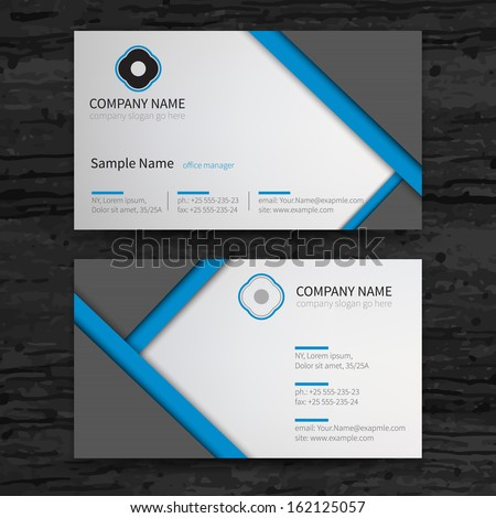Vetor stock de vector abstract creative business cards set livre de vector abstract creative business cards set template reheart Images
