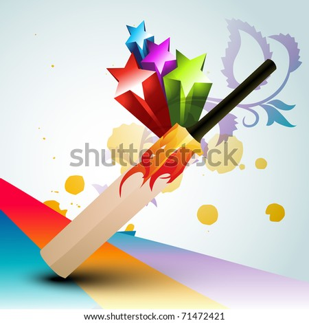 vector abstract cricket bat design - stock vector