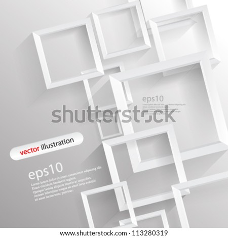 Vector abstract 3D Geometrical concept illustration - eps10
