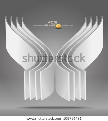 Vector abstract 3D object - stock vector