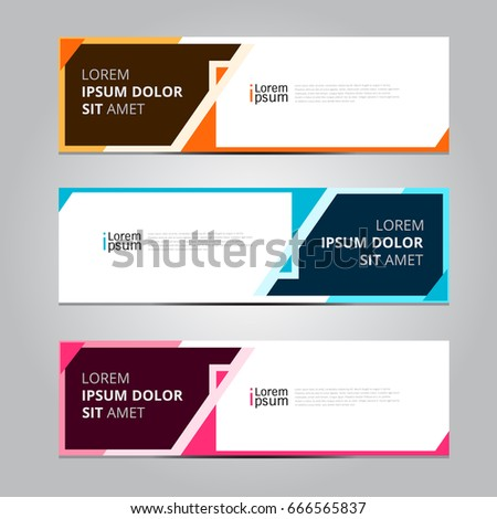 vector abstract design banner web template stock vector 2018 666565837 shutterstock - Template