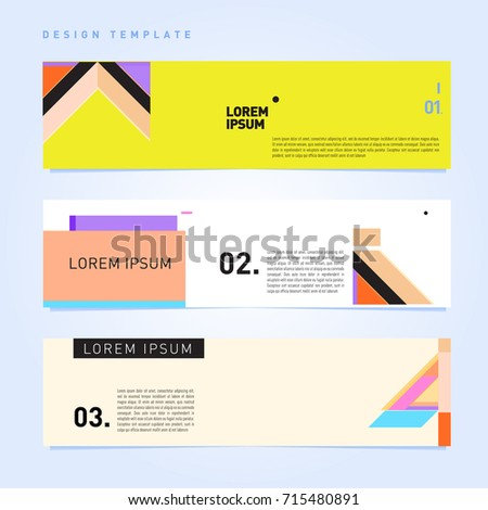vector abstract design banner web template stock vector 715480891