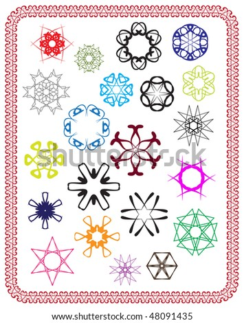 vector abstract design patterns - stock vector